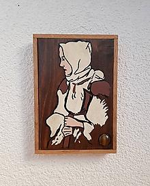 Obrázky - Žena z Liptova (drevený obrázok s tigrím okom) - 10016822_