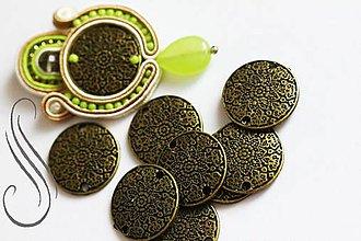 Galantéria - kovový komponent  - Orient medailon/1ks - 10014488_