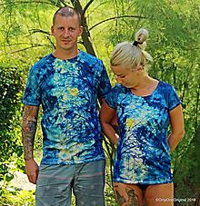 Tričká - Dámske a pánske tričká, párové, batikované, maľované SPLN   - 10012669_