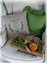 Úžitkový textil - lněný povlak HERBES de PROVENCE - 10016171_