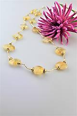 citrín náhrdelník luxusný dlhý