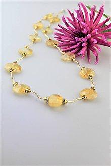Náhrdelníky - citrín náhrdelník luxusný dlhý - 10014400_