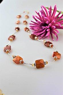 Náhrdelníky - achát dračí náhrdelník luxusný dlhý - 10016102_