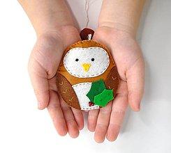 Dekorácie - Rozprávkové Vianoce (Sovička) - 10012563_