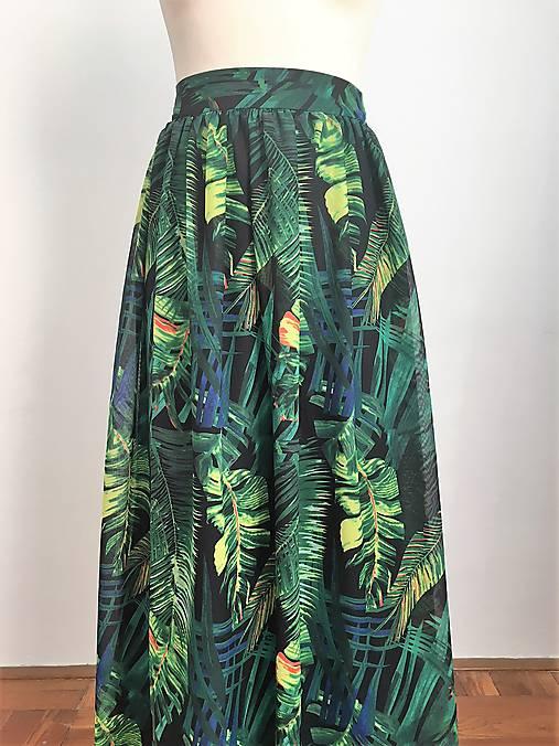 8b0a8a709794 Dlhá nadýchaná sukňa Exotic   EVART - SAShE.sk - Handmade Sukne