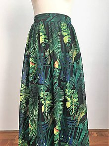 Sukne - dlhá nadýchaná sukňa Exotic - 10016660_