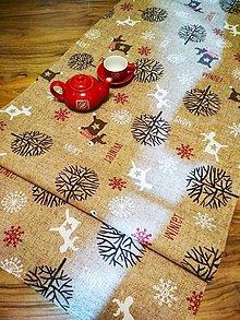 Úžitkový textil - Behúň WINTER- 138 X 56cm - 10015595_