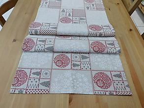 Úžitkový textil - Stredový obrus - vianoce - 10014655_
