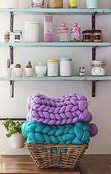 Úžitkový textil - Merino obria deka 50x70 s brmbolcom - 10013489_
