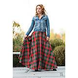 Sukne - maxi sukňa s výrazným zipsom