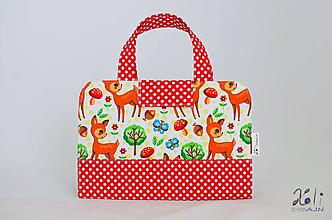 Detské tašky - Detský kufrík - pastelkovník Srnky - 10016094_