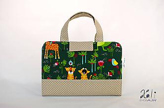 Detské tašky - Detský kufrík - pastelkovník Zvieratká v džungli - 10016133_
