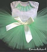 Detské súpravy - Narodeninový set s tutu sukničkou - 10013130_