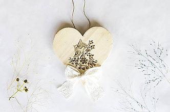 Dekorácie - Srdce na dvere - Bude svadba - 10015467_
