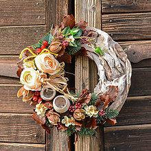 Dekorácie - Smútočný veniec s ružami - 10012270_