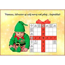 Grafika - Vianočná krížovková pohľadnica s Vaším bábom - 10015747_