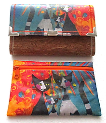 Peňaženky - Peňaženka - Mačičky + kapsička - 10012781_