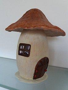 Dekorácie - hríbikový domček - 10014682_