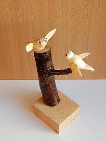Dekorácie - Drevená dekorácia - Táááákto véééľmi Ťa milujééém - 10015761_