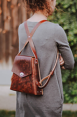 - Kožený batoh SHAPE Vintage brown - 10015055_