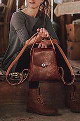 Batohy - Kožený batoh SHAPE Vintage brown - 10015058_