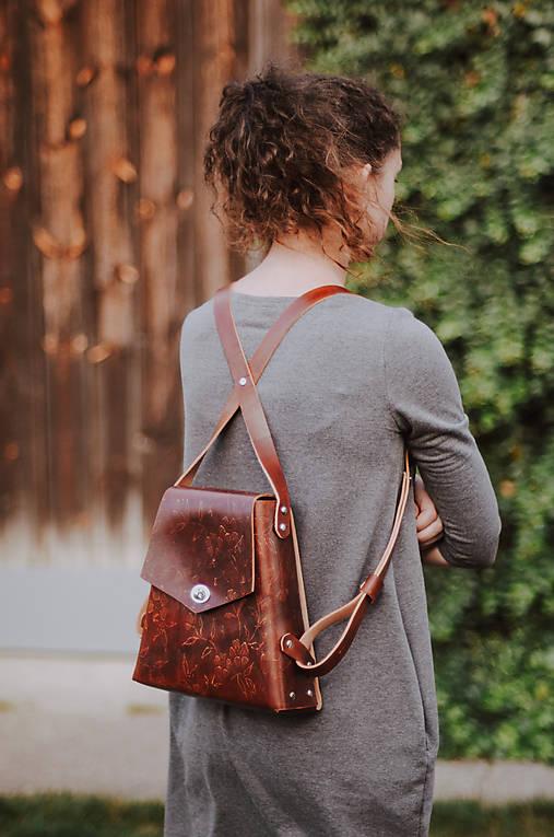Kožený batoh SHAPE Vintage brown