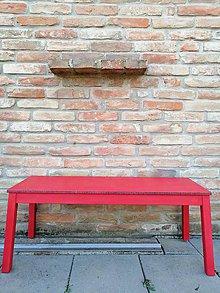 Nábytok - Lavica červená - 10016837_