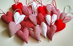 Dekorácie - Vianočné srdiečka - 10014641_