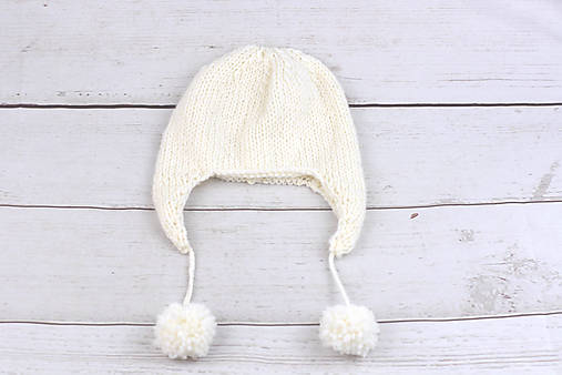 147ed86c3 Biela ušianka zimná EXCLUSIVE FINE / MolieBaby - SAShE.sk - Handmade ...