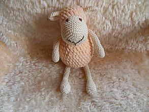 Hračky - Milá háčkovaná ovečka (Béžová) - 10013409_