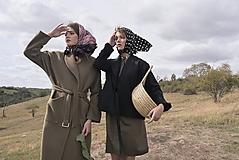 Kabáty - Dlhý pieskový vlnený kabát - 10012559_