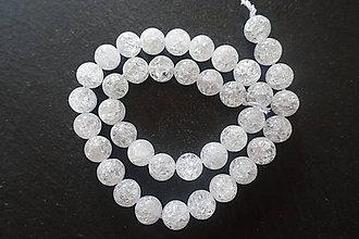 Minerály - Krištáľ prírodný praskaný 10mm - 10012346_