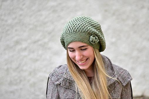 Úžasná ~ háčkovaná baretka/čiapka