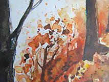 Obrazy - Jesenná alej / Autumn alley - Originál - 10014039_