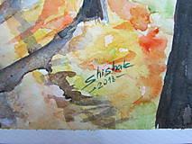 Obrazy - Jesenná alej / Autumn alley - Originál - 10014040_