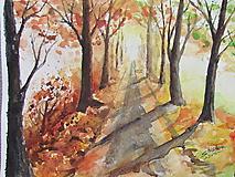 Obrazy - Jesenná alej / Autumn alley - Originál - 10014041_
