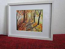 Obrazy - Jesenná alej / Autumn alley - Originál - 10014044_