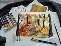 Obrazy - Jesenná alej / Autumn alley - Originál - 10014103_