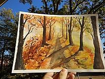 Obrazy - Jesenná alej / Autumn alley - Originál - 10014104_