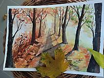 Obrazy - Jesenná alej / Autumn alley - Originál - 10014105_