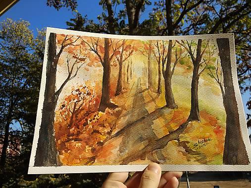 Jesenná alej / Autumn alley - Originál