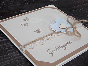 Papiernictvo - ...pohľadnica svadobná so srdiečkami... - 10012521_