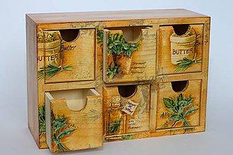 Krabičky - Krabička so zásuvkami na korenie alebo čaj :) - 10013672_