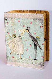 Krabičky - Keď zvonia svadobné zvony - krabica na fotografie a drobnosti - 10013835_