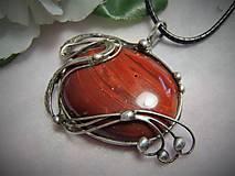 Náhrdelníky - červený jaspis... - 10013961_
