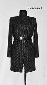 Kabáty - Bodkovaný kabát-50%zľava!!! - 10016459_