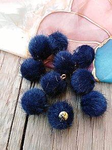 Polotovary - Bambuľky - pár (Modrá) - 10014734_