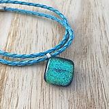 Náhrdelníky - Tyrkysový oceán - sklenený náhrdelník - 10016451_