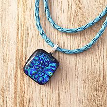 Náhrdelníky - Modrý atol - sklenený náhrdelník - 10016529_