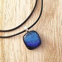 Náhrdelníky - Fialový Súmrak - sklenený náhrdelník - 10016565_
